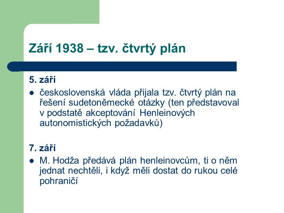 Září 1938 – tzv. čtvrtý plán 5. září