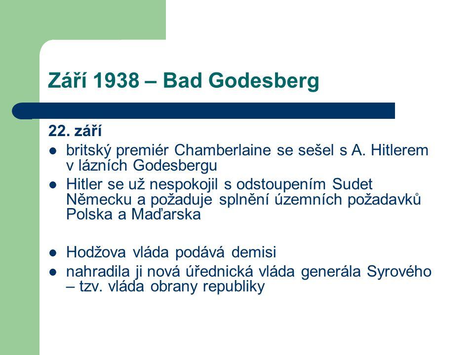 Září 1938 – Bad Godesberg 22. září