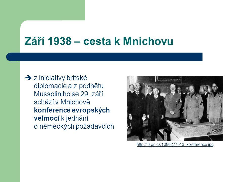 Září 1938 – cesta k Mnichovu