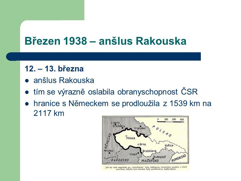 Březen 1938 – anšlus Rakouska