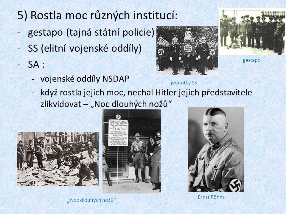 5) Rostla moc různých institucí: