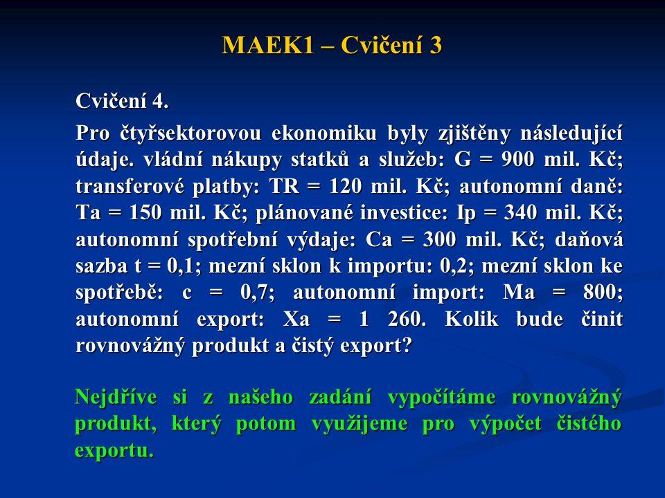 MAEK1 – Cvičení 3