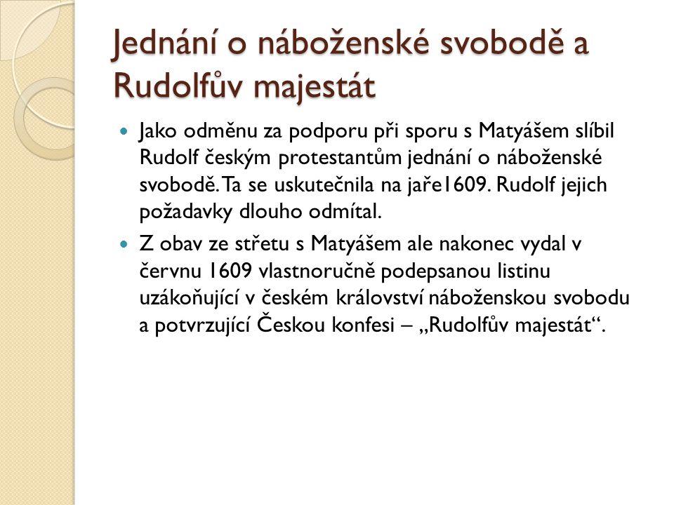 Jednání o náboženské svobodě a Rudolfův majestát