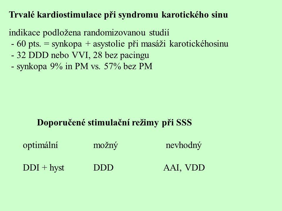 Trvalé kardiostimulace při syndromu karotického sinu