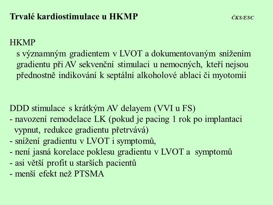 Trvalé kardiostimulace u HKMP ČKS/ESC