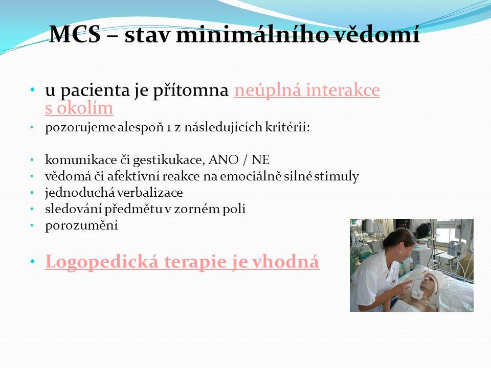 MCS – stav minimálního vědomí