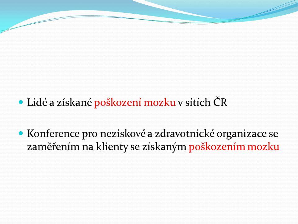 Lidé a získané poškození mozku v sítích ČR