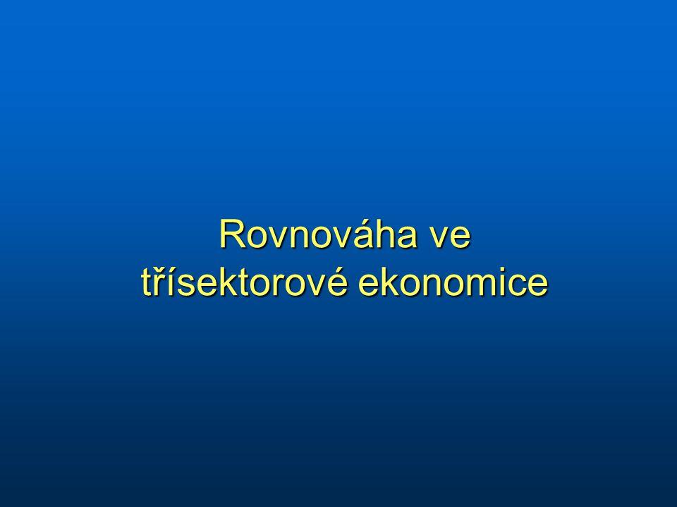 Rovnováha ve třísektorové ekonomice