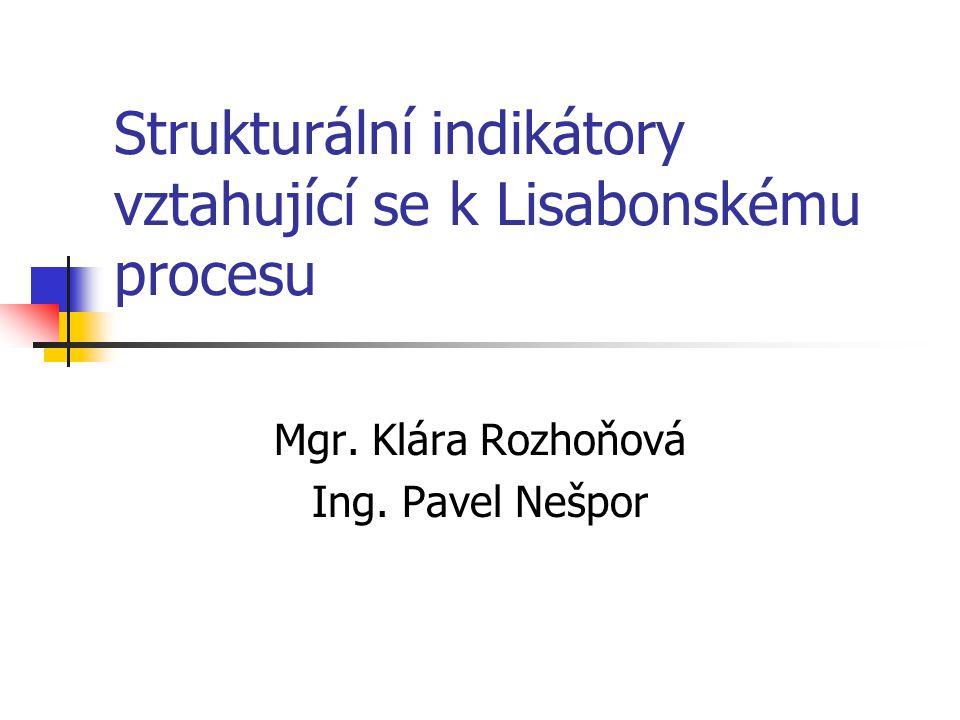 Strukturální indikátory vztahující se k Lisabonskému procesu