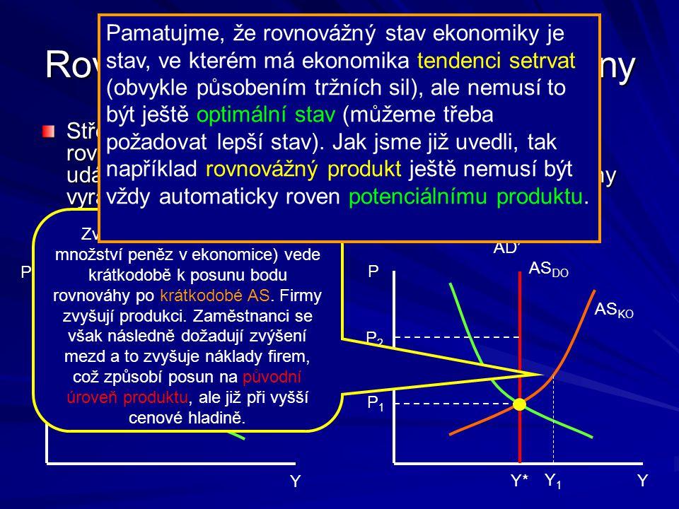 Rovnováha ekonomiky a její změny