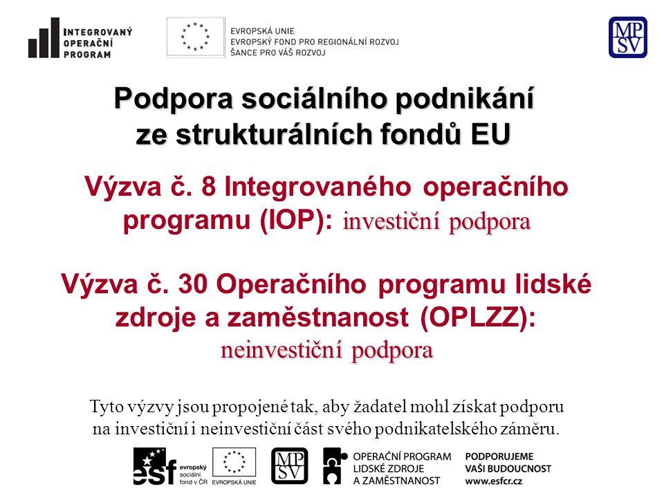 Podpora sociálního podnikání ze strukturálních fondů EU