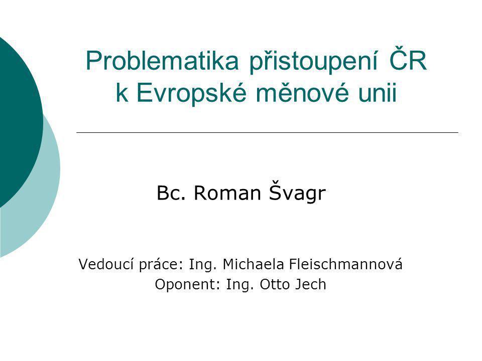 Problematika přistoupení ČR k Evropské měnové unii