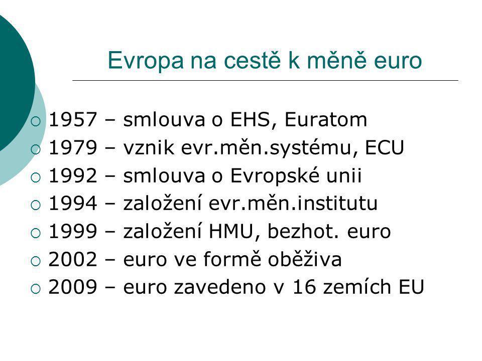 Evropa na cestě k měně euro