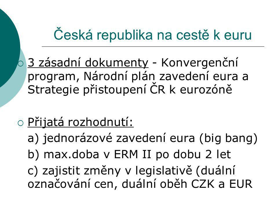 Česká republika na cestě k euru