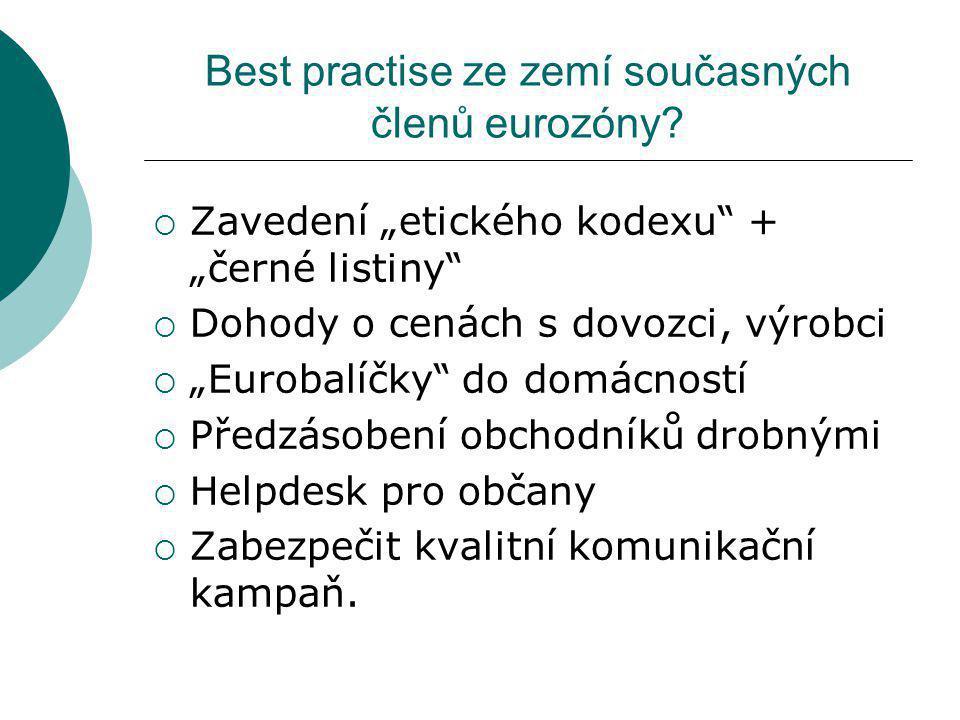 Best practise ze zemí současných členů eurozóny
