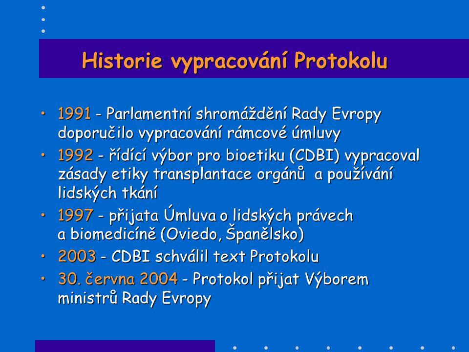 Historie vypracování Protokolu