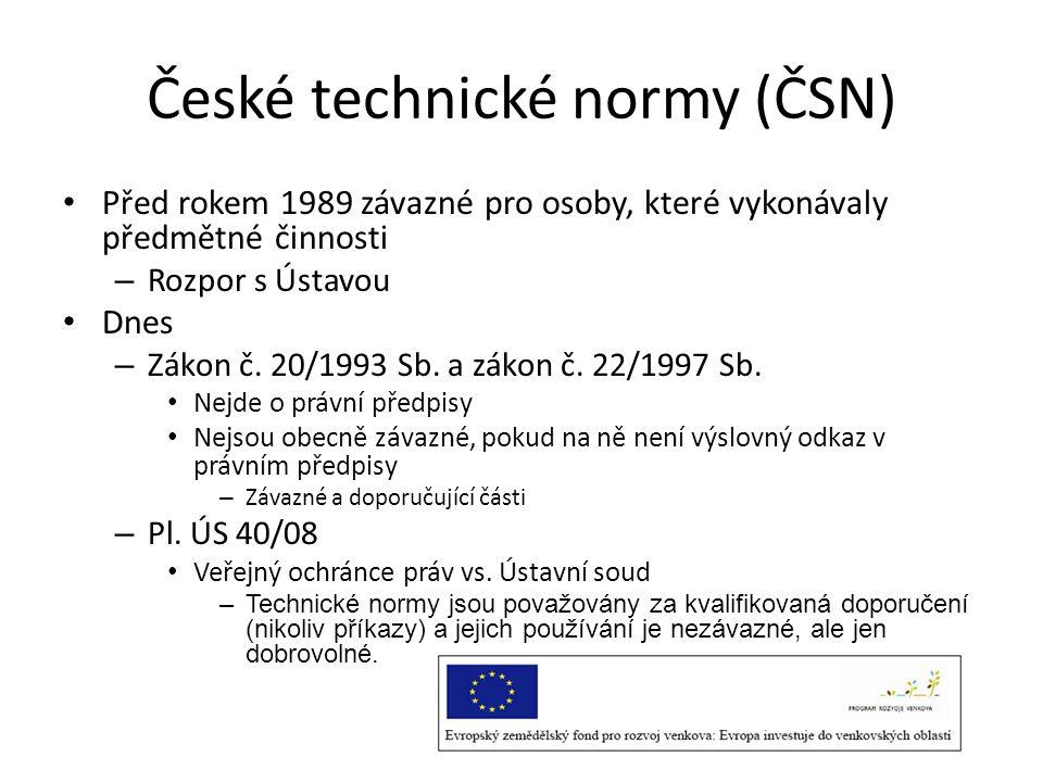 České technické normy (ČSN)