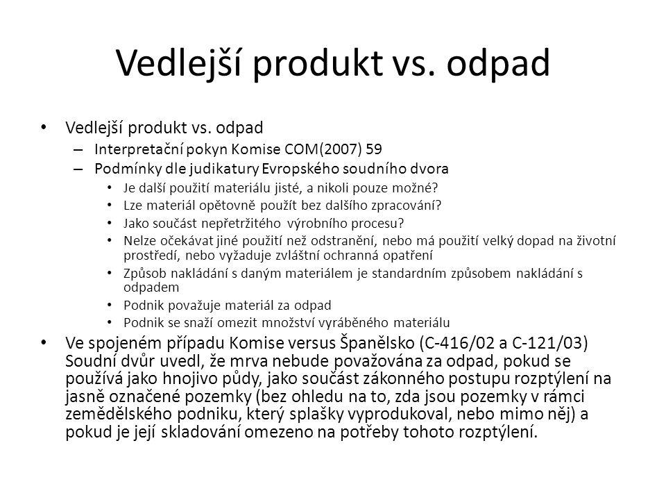 Vedlejší produkt vs. odpad