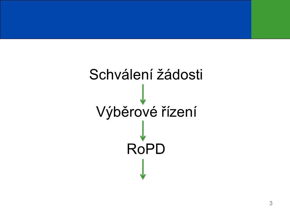 Schválení žádosti Výběrové řízení RoPD