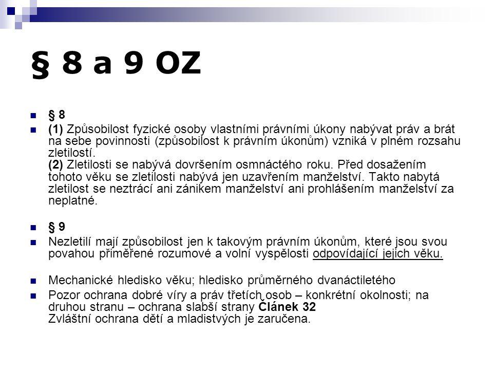 § 8 a 9 OZ § 8.