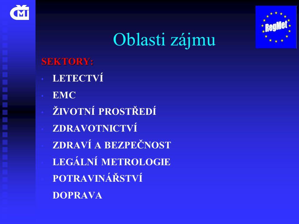 Oblasti zájmu SEKTORY: LETECTVÍ EMC ŽIVOTNÍ PROSTŘEDÍ ZDRAVOTNICTVÍ