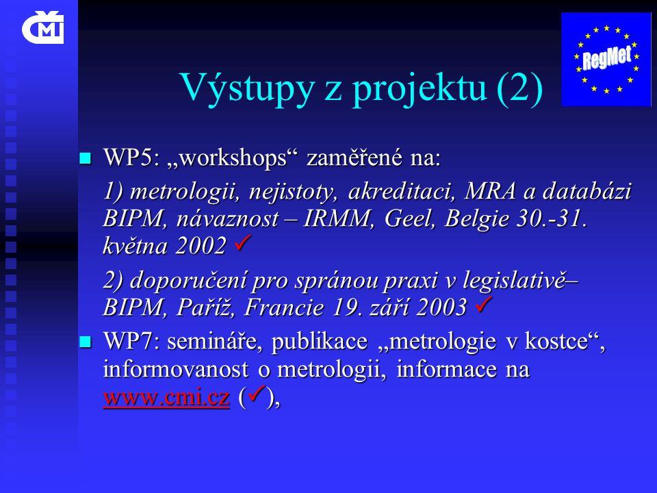 """Výstupy z projektu (2) WP5: """"workshops zaměřené na:"""