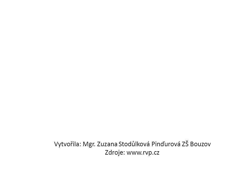 Vytvořila: Mgr. Zuzana Stodůlková Pinďurová ZŠ Bouzov Zdroje: www. rvp