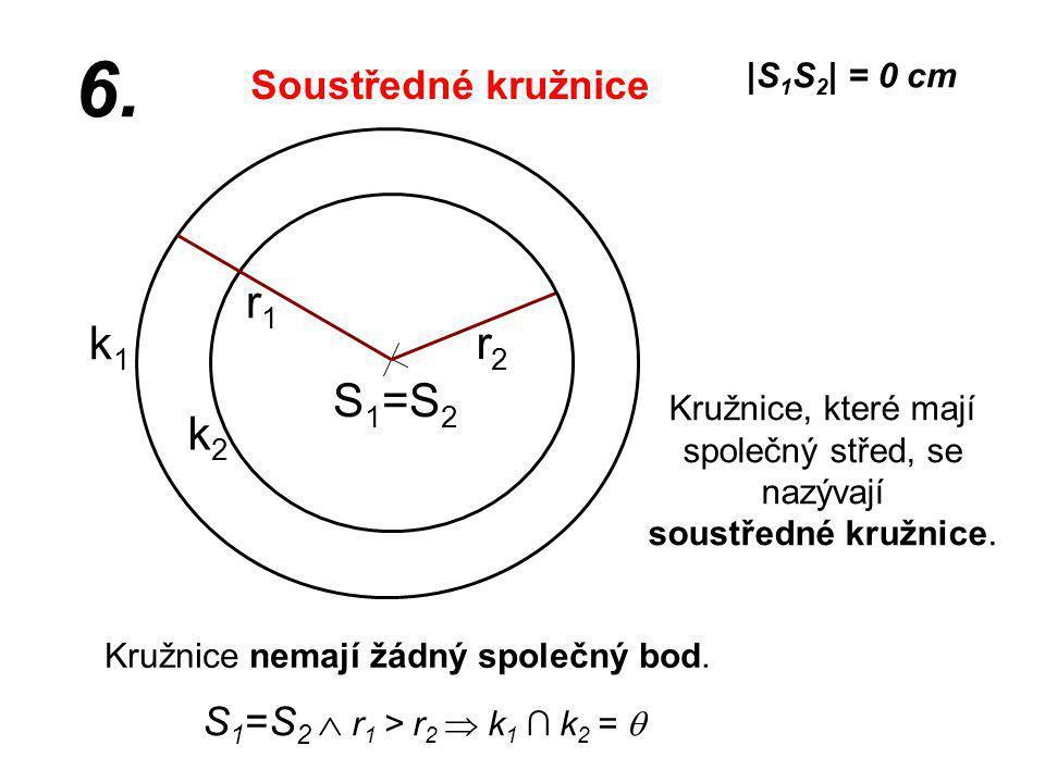 6. r1 k1 r2 S1=S2 k2 Soustředné kružnice