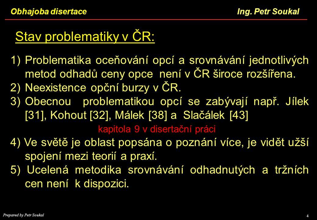 Stav problematiky v ČR:
