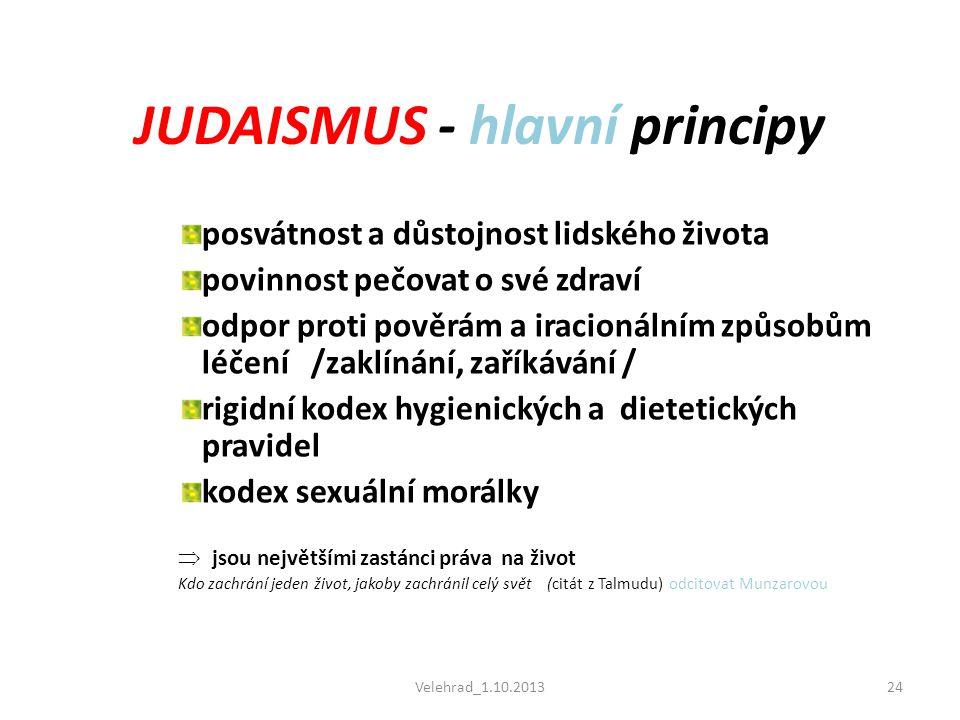 JUDAISMUS - hlavní principy