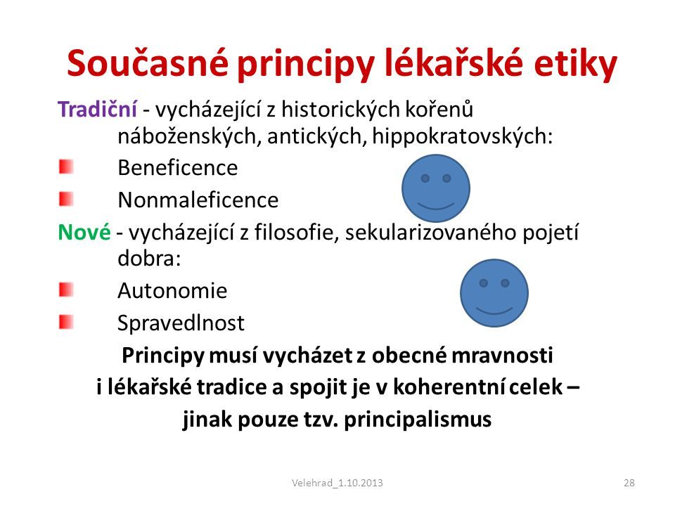 Současné principy lékařské etiky