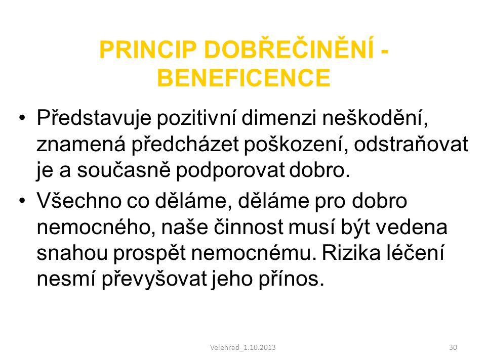PRINCIP DOBŘEČINĚNÍ - BENEFICENCE