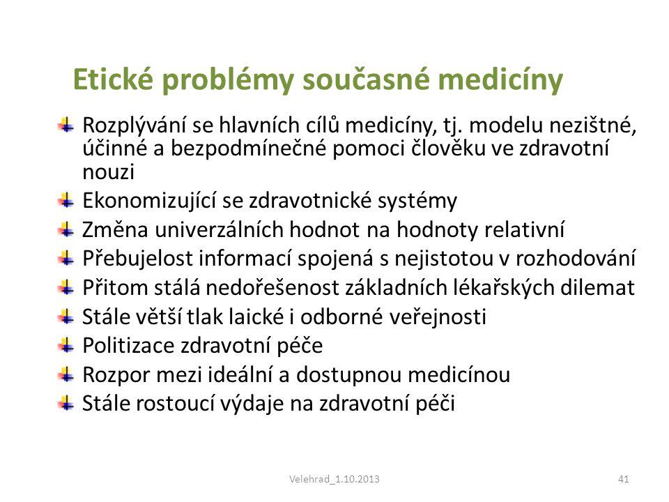Etické problémy současné medicíny