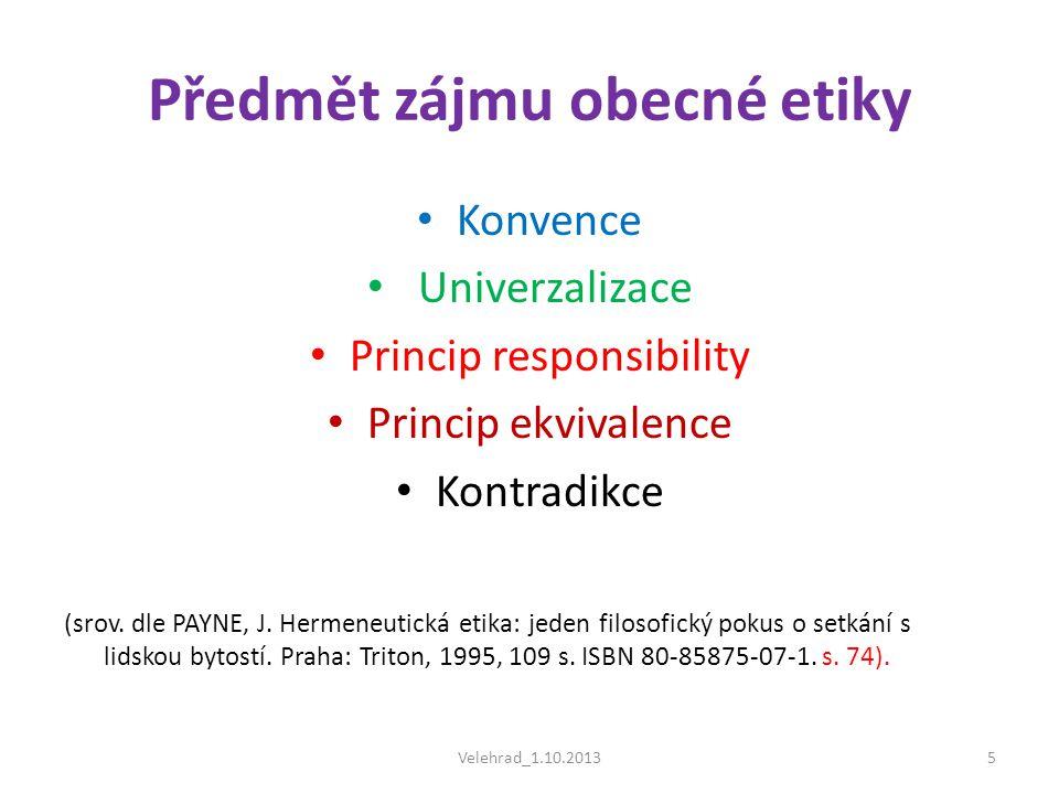Předmět zájmu obecné etiky