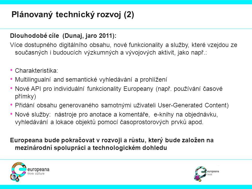 Plánovaný technický rozvoj (2)