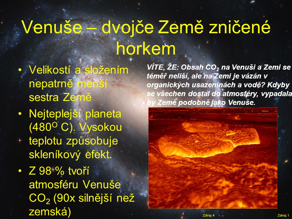 Venuše – dvojče Země zničené horkem