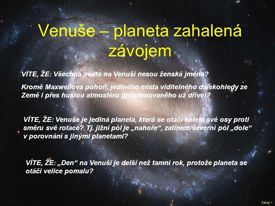 Venuše – planeta zahalená závojem