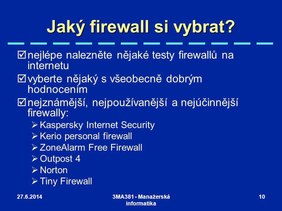 Jaký firewall si vybrat