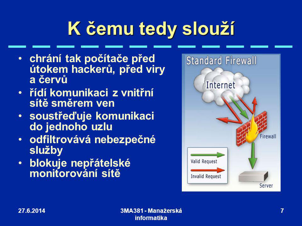 3MA381 - Manažerská informatika