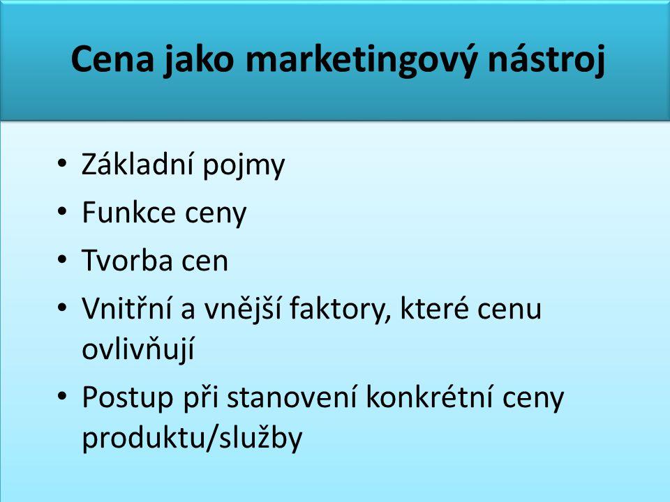 Cena jako marketingový nástroj