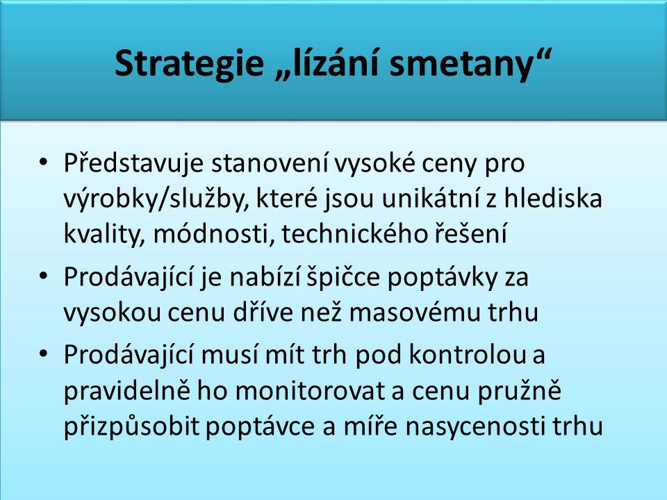 """Strategie """"lízání smetany"""