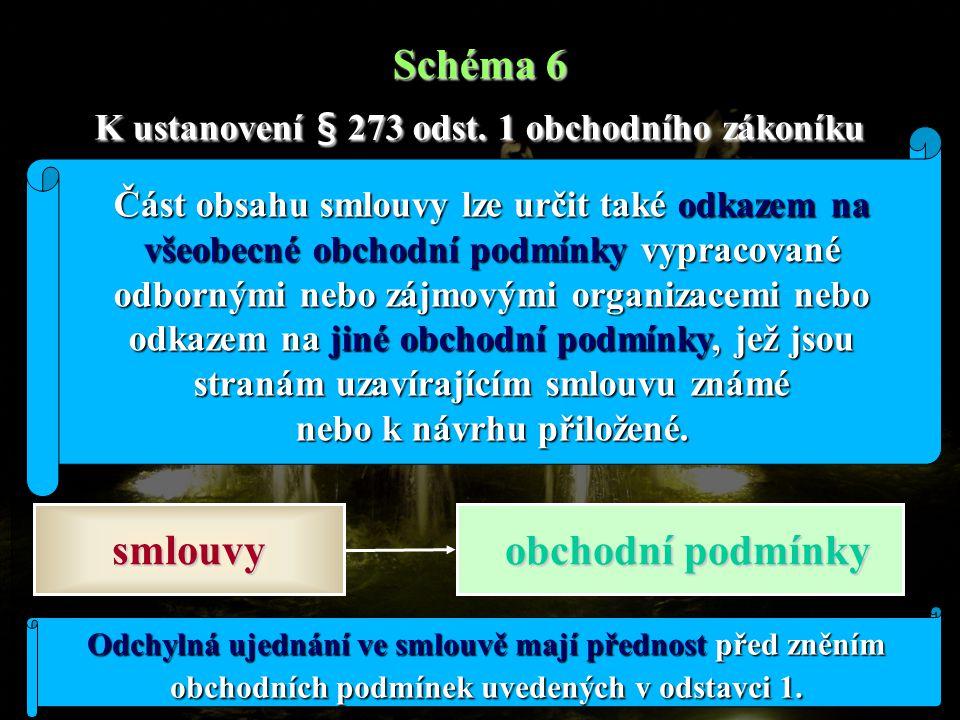 Schéma 6 K ustanovení § 273 odst. 1 obchodního zákoníku
