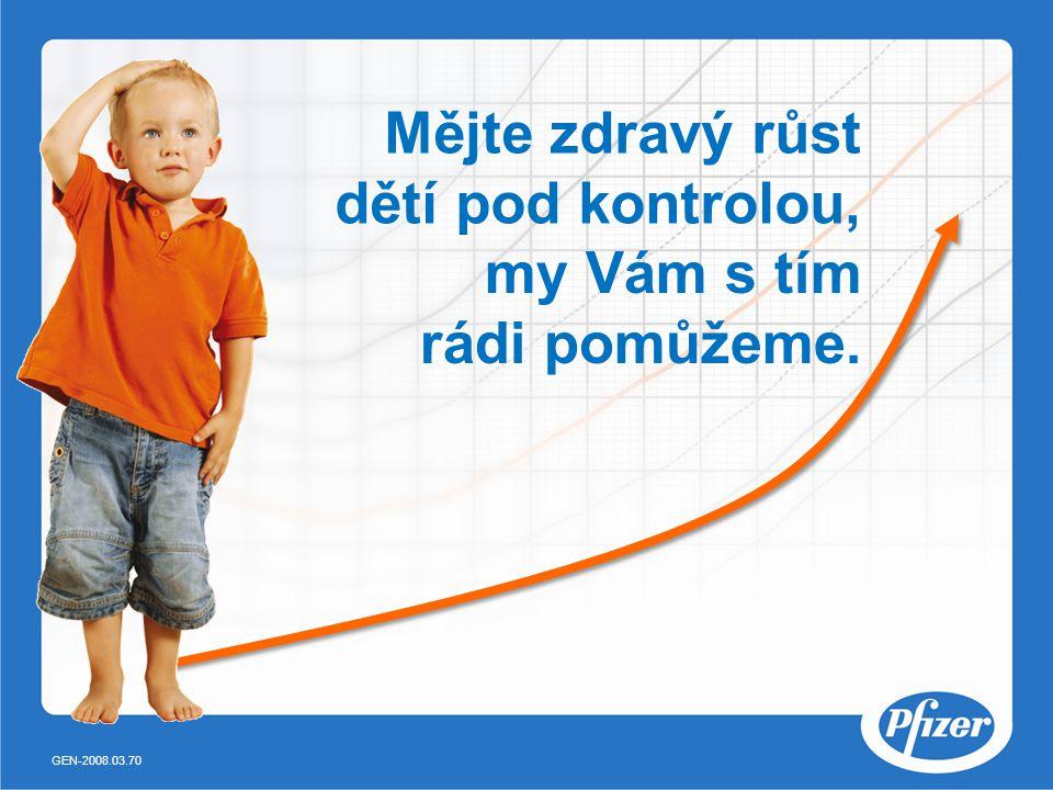 Mějte zdravý růst dětí pod kontrolou,
