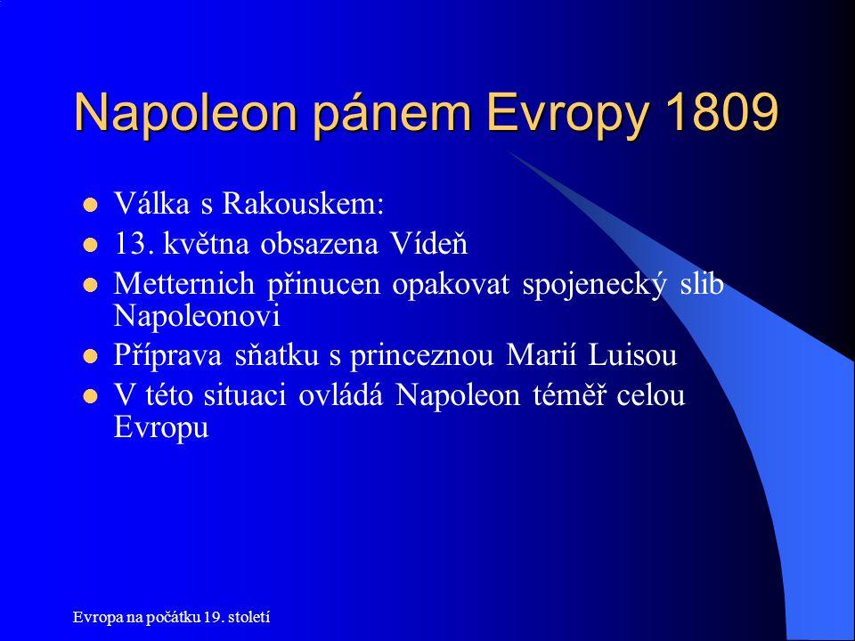 Napoleon pánem Evropy 1809 Válka s Rakouskem: