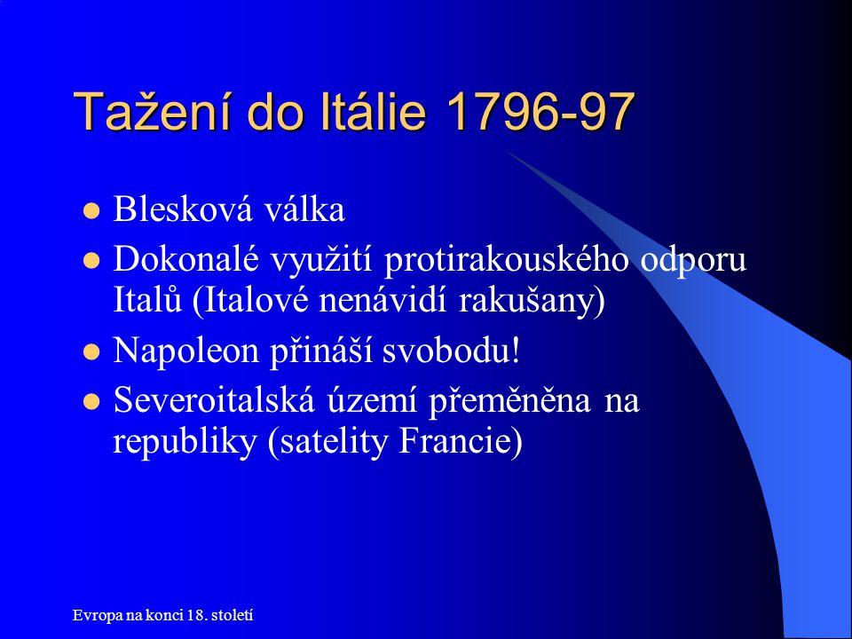 Tažení do Itálie 1796-97 Blesková válka