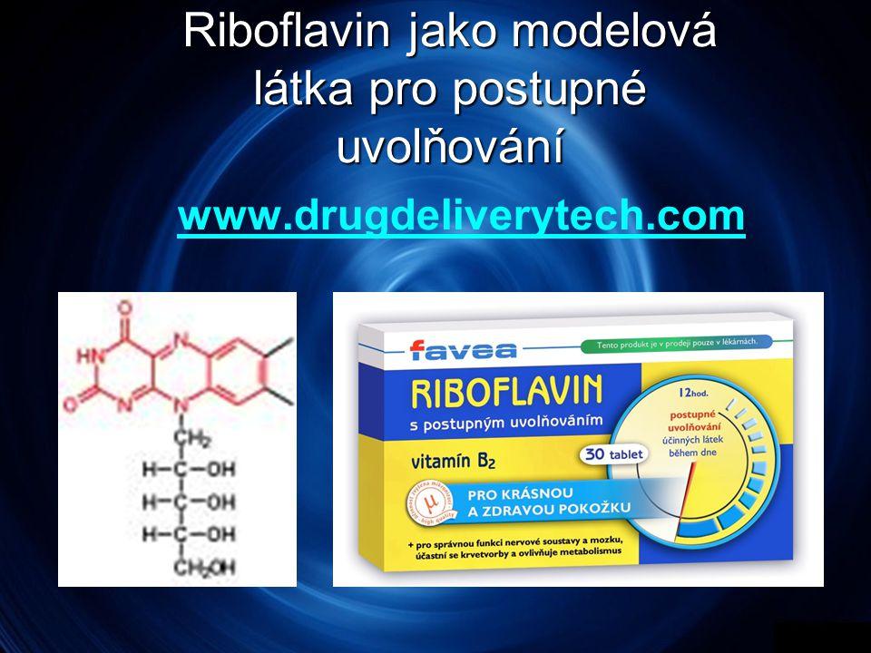 Riboflavin jako modelová látka pro postupné uvolňování