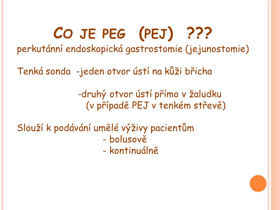 Co je peg (pej)