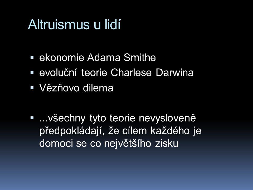Altruismus u lidí ekonomie Adama Smithe