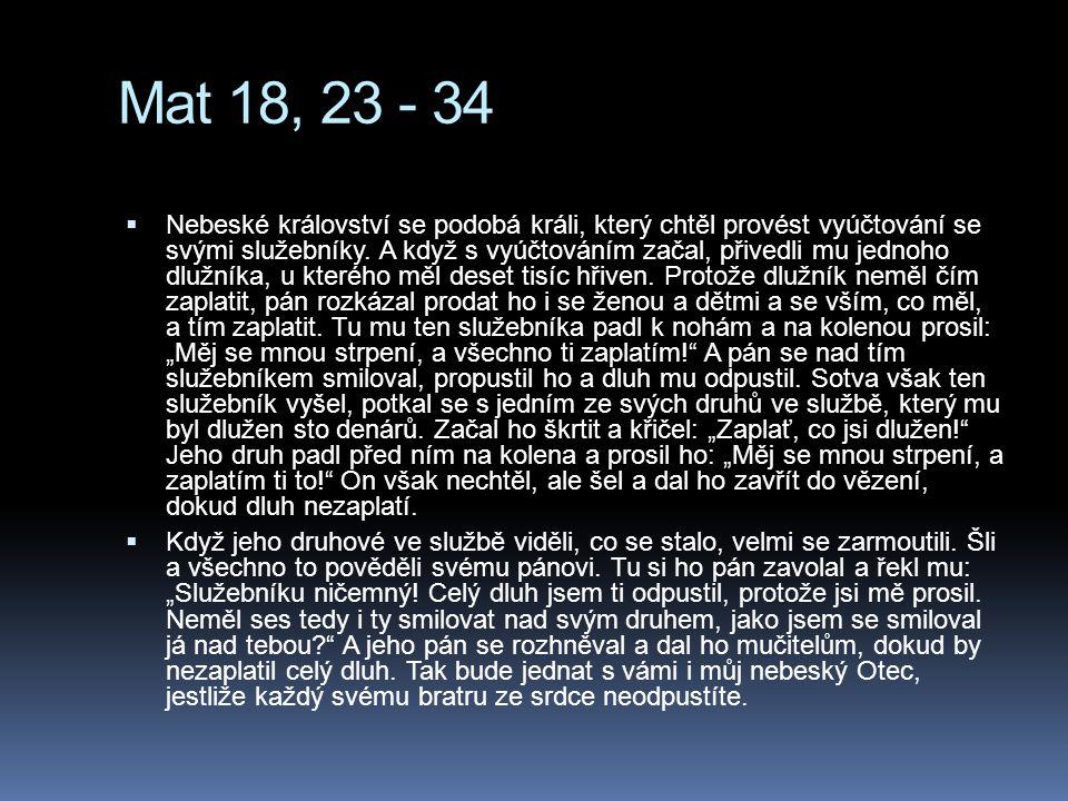 Mat 18, 23 - 34