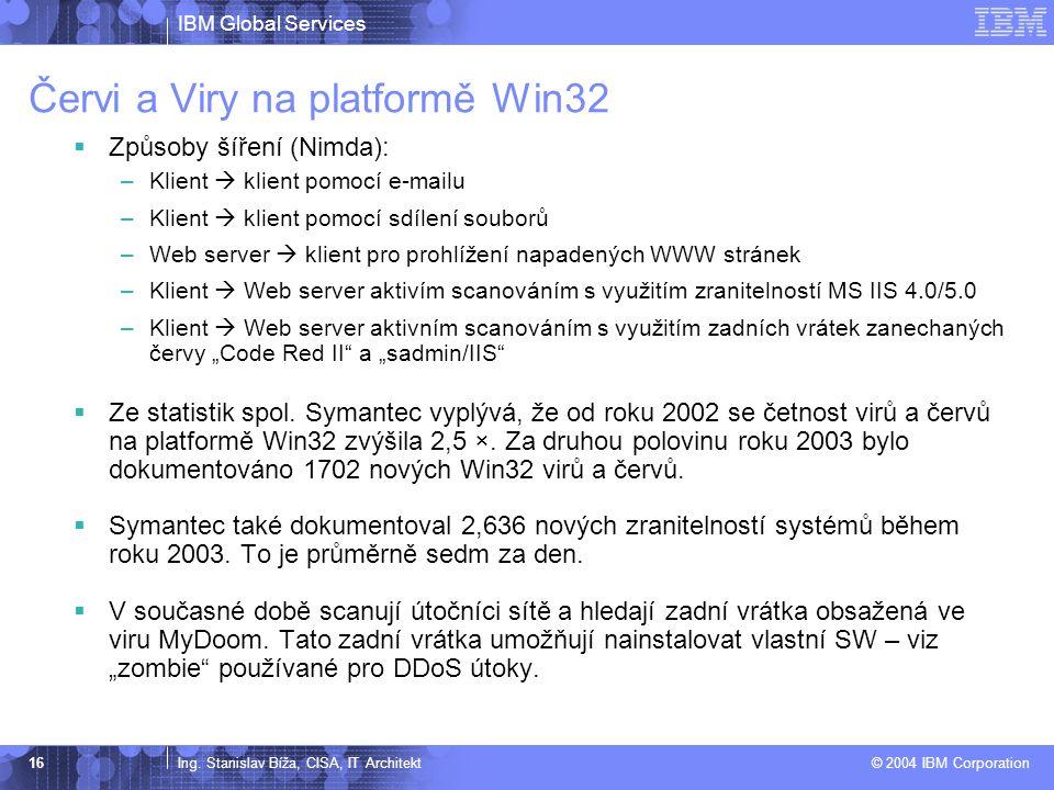 Červi a Viry na platformě Win32